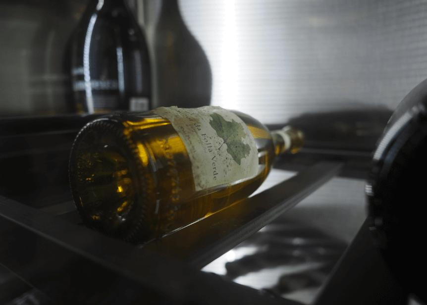 Antigua botella de Señor da Folla Verde