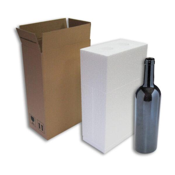 Caja Embalaje 2uds con botella