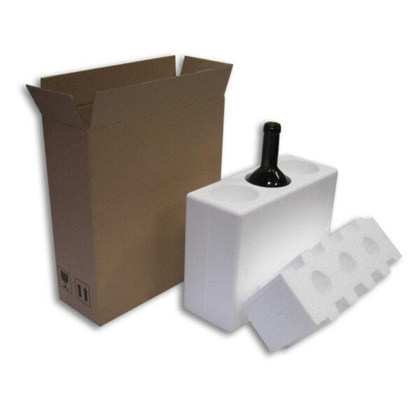 Caja Embalaje 3uds con botella