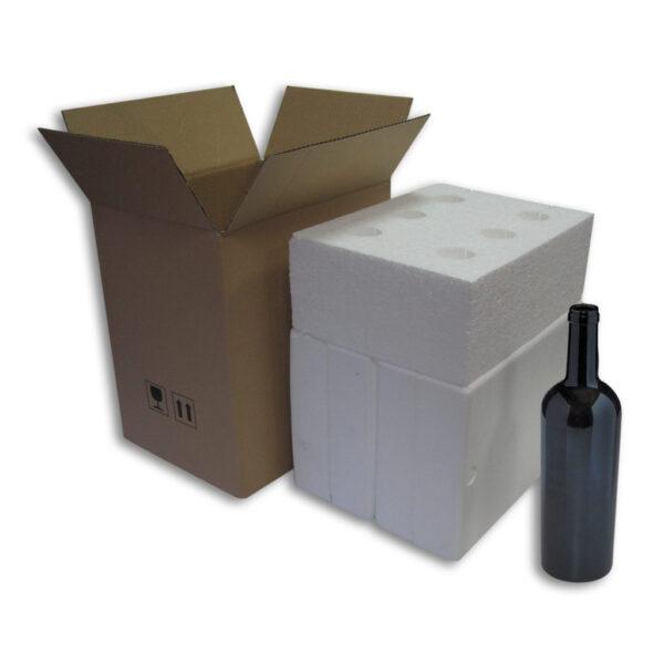 Caja Embalaje 6uds con botella